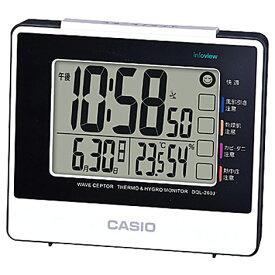 1e7e0cfdd3 CASIO DQL-260J-7JF 電波目覚まし時計 DQL260J7JFポータブル 熱中症対策 アウトドア 外出