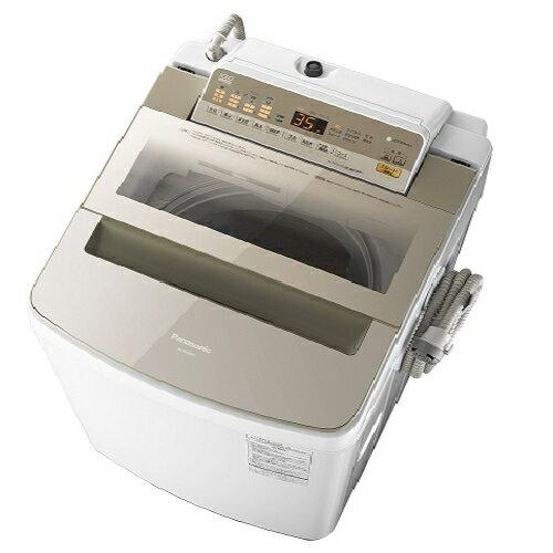 パナソニック NA-FA100H5-N(シャンパン) 全自動洗濯機 上開き 洗濯10kg