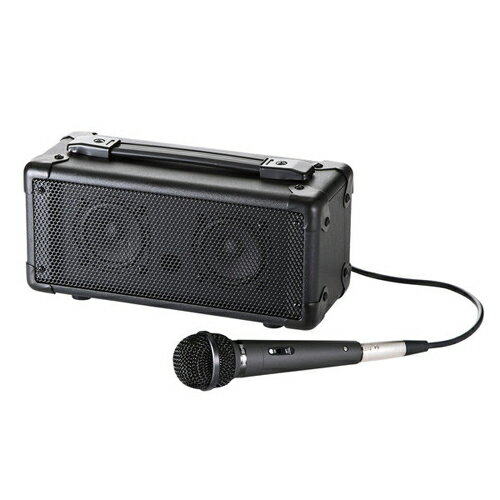 【長期保証付】サンワサプライ MM-SPAMPBT マイク付き拡声器スピーカー(Bluetooth対応)