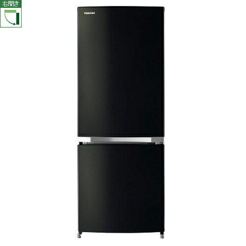 東芝 GR-M15BS-K(ピュアブラック) 2ドア冷蔵庫 右開き 153L