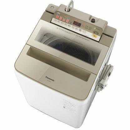 【設置】パナソニック NA-FA80H6-N(シャンパン) 全自動洗濯機 上開き 洗濯8kg