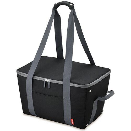サーモス REJ-025-BK(ブラック) 保冷買い物カゴ用バッグ 25L