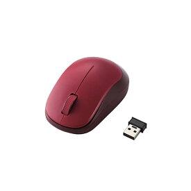 エレコム M-DY12DBRD(レッド) 3ボタンBlueLED無線マウス
