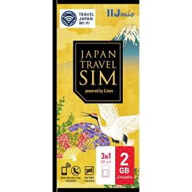 IIJ Japan Travel SIM 2GB(Type D) マルチSIM IM-B250