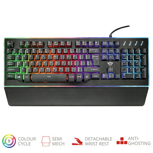 Trust Gaming 21839 GXT 860 Thura Semi-mechanical Keyboard