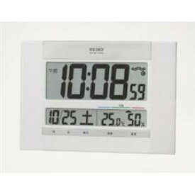 a419aee216 セイコー SQ429W 温湿度計付き電波掛け時計 置き掛け兼用 デジタル SQ429Wポータブル 熱中症