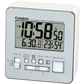 CASIO DQD-805J-8JF(シルバー) 電波目覚まし時計 温湿度計付き