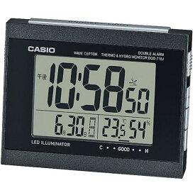 CASIO DQD-710J-1JF(ブラック) 電波目覚まし時計 温湿度計付き