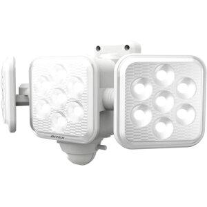 ムサシ LED-320 5W×3灯 フリーアーム式LED乾電池センサーライト