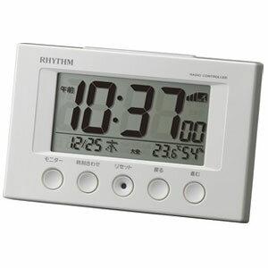 リズム時計 8RZ166SR03(白) 目覚まし時計 フィットウェーブスマート