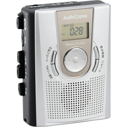 オーム電機 CAS-R384Z ポータブルカセットレコーダー