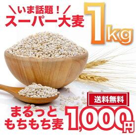 もち麦 大麦 まるっともち麦 うるち性 国産 1kg (500g×2袋) ネコポス 送料無料 テレビ紹介
