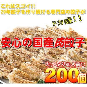 【ワケあり】安心の国産餃子200個!!40人前!!