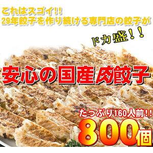 【ワケあり】安心の国産餃子800個!!160人前!!