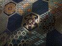 京西陣・金襴 生地 小紋亀甲文(紺) ( 金らん 金襴布 和布 和生地 和柄生地 和柄 和風)05P01Oct16