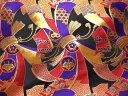 京西陣・金襴 生地 束ねのし文(紫)(和柄生地 和柄 和風 よさこい 衣装 布 はぎれ 手芸 インテリア 生地)05P01Oct16