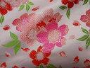 京西陣・金襴 生地 爛漫大桜(淡桃) (和布 和生地 和柄生地 和柄 和風)05P01Oct16