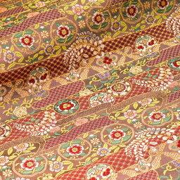 京都西陣錦緞、金線錦緞布料yume花句子10cm學分分開零售