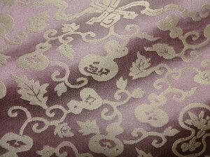 京都西陣織 正絹 錦裂 ひょうたん (紫) 10cm単位 切り売り シルク 茶 袱紗 仕覆布 和柄 生地 はぎれ 通販 和柄生地 和風 布地