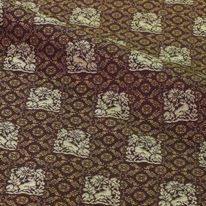 京都西陣織 正絹 錦裂 花兎錦 (古代紫) 10cm単位 切り売り シルク 茶 袱紗 仕覆布 和柄 生地 はぎれ 通販 和柄生地 和風 布地