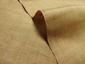 マスク用生地 本麻 生平 生地 路考茶 (ロコウチャ) 10cm単位 切り売り リネン 暖簾 インテリア布 和柄 生地 はぎれ 通販 和柄生地 和風 布地