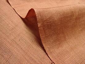 マスク用生地 本麻 生平 生地 赤茶 10cm単位 切り売り リネン 暖簾 インテリア布 和柄 生地 はぎれ 通販 和柄生地 和風 布地