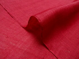 マスク用生地 夏用 本麻 生平 生地 赤紅 10cm単位 切り売り リネン 暖簾 夏素材 インテリア布 和柄 生地 はぎれ 通販 和柄生地 和風 布地