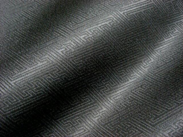 京 綸子・りんず 紗綾形(黒)/サヤ型 50cm単位 切り売り