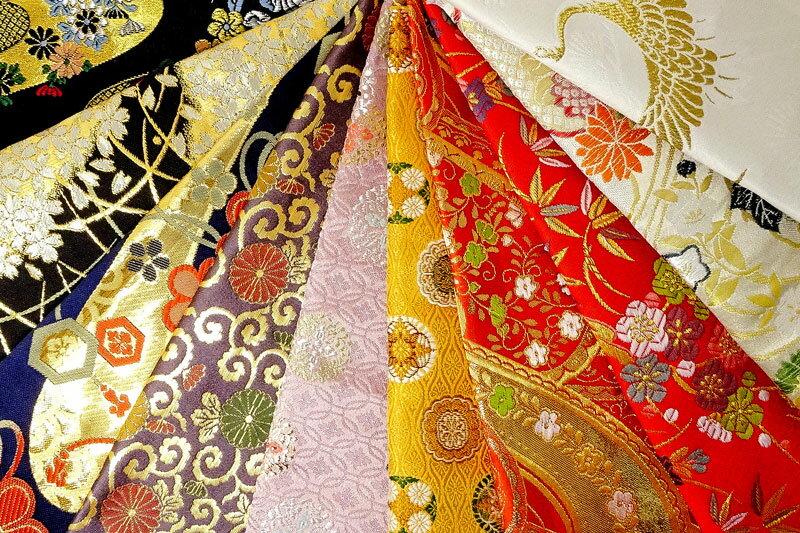 金襴織物 はぎれ 色々 お試し 10枚セット 【手芸同好会-fuku】