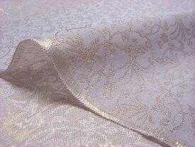 正絹 紗 箔入 糊付 丸唐草に鳳凰 10cm単位 切り売り シルク 布 和柄 生地 はぎれ 通販 和柄生地 和風 布地