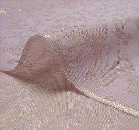 正絹 紗 箔入 糊付 唐草鳳凰 10cm単位 切り売り シルク 布 和柄 生地 はぎれ 通販 和柄生地 和風 布地