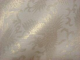 正絹 紗 箔入 糊付 鳳凰 (白)10cm単位 切り売り シルク 布 和柄 生地 はぎれ 通販 和柄生地 和風 布地