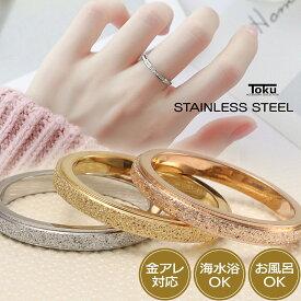 極細 ステンレス リング シルバー ゴールド ローズゴールド レディース シンプル 指輪 細身 華奢 重ね付け ピンキーリング ミディリング