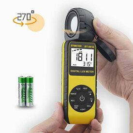デジタルルクスメーター BTMETER BT-881D 0.01-400000Lux照度測定、照度計 光度計搭載 気温機能、高精度計測、センサー270°回転、付