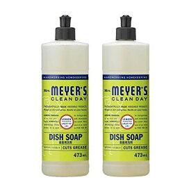 【まとめ買い】 ミセスマイヤーズ クリーンデイ(Mrs.Meyers Clean Day) 食器用洗剤 レモンバーベナの香り 473mL×2個