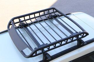 アルミ製ルーフラックブラック軽自動車組立不要ルーフバスケットR041100×900