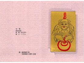 【純金製 三面大黒1gカード】純金 K24 大黒天 毘沙門天 弁財天 カード型 地金 ラミネート