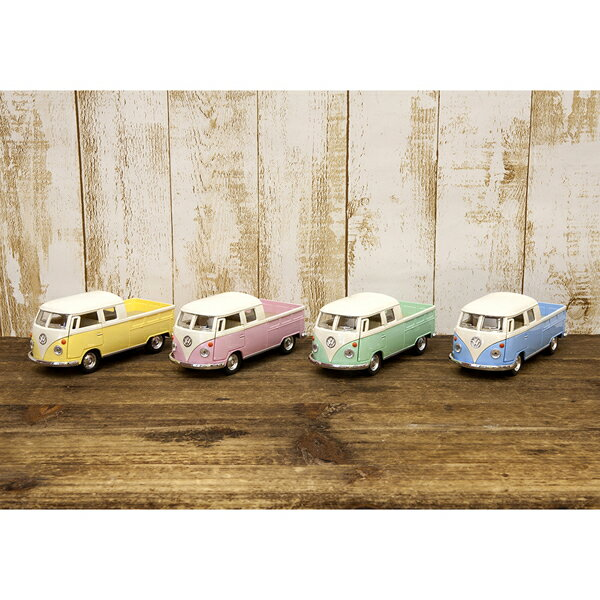 【1963 VW Bus Double Cab Pickup (Pastel Color)1:34(M)】ダイキャストミニカー12台セット★ (12点)_okrjs