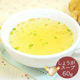 送料無料 しょうがスープ 60g ※しょうが、生姜、ショウガ、シンジャー、スープ、粉末スープ、メール便で送料無料
