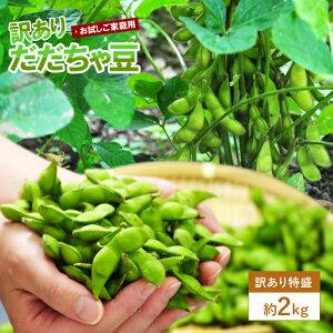 訳ありだだちゃ豆 2kg ご家庭用 ※枝豆 えだまめ、エダマメ、産直、山形産、ワケアリ