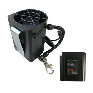 ファン 空調ファンつき作業服 用 7.4V ハンディ ポータブル 卓上 空調作業服 夏 熱中症対策 節電 ファン付き 服 風吹く 服 扇風機 扇風機付き服 作業着 バッテリー付き