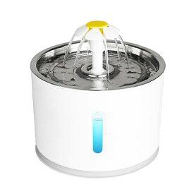自動給水器 自動水やり機 犬 猫 循環式 活性炭フィルター式 静音 三重濾過 ペットウォーターファウンテン オートフィーダー ペットフィーダー 水や 皿付 健康 水 ペット用品 ペット用
