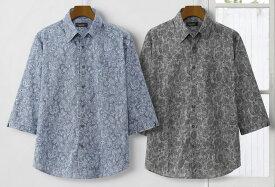 PaulMiller/ポールミラー ペイズリー柄高島ちぢみ7分袖シャツ2色組 378-4950
