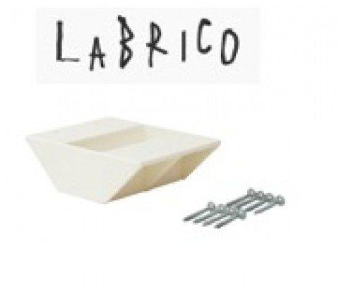 LABRICO ラブリコ 2×4棚受 ダブル DXO-3 オフホワイト