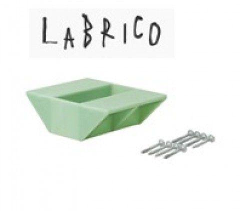 LABRICO ラブリコ 2×4棚受 ダブル DXV-3 ヴィンテージグリーン