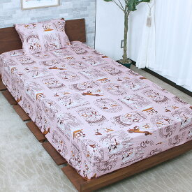 ディズニー チップとデール(チップ&デール)ボックスシーツ 敷布団カバー 兼用 シングル(ピンク)100×200×30cm