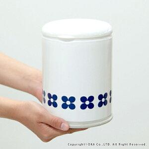フルールコーナーポット(トイレポットケース洗いやすいおしゃれシンプル北欧モダンネイビーホワイト清潔洗えるポット収納)