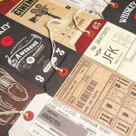 雑貨文具ボンシック タグみたいなギフト&ポストカードペーパータグ絵はがき ラッピング 【メール便可能】