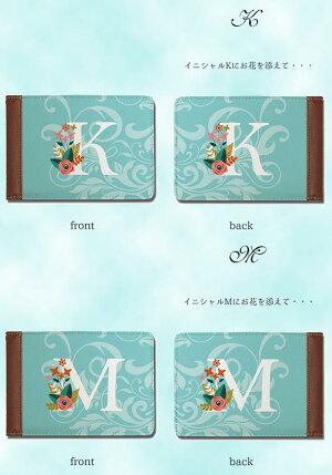 【メール便可能】【東京アンティーク】アンティークデザイン40枚入るカードケース/花のイニシャル