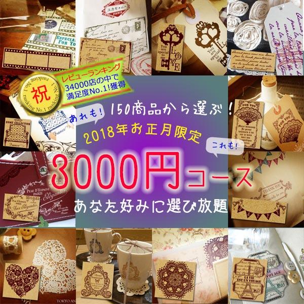 1年に一度のお年玉福袋あなた好みに詰め合わせ自由スタンプ3,000円福袋